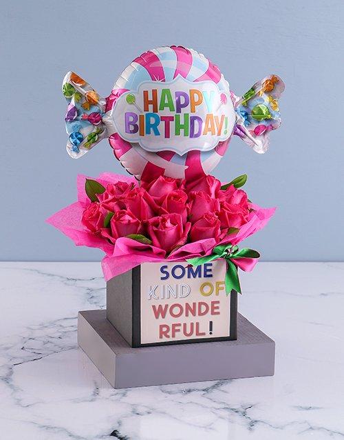 birthday Wonderful Birthday Rose Arrangement