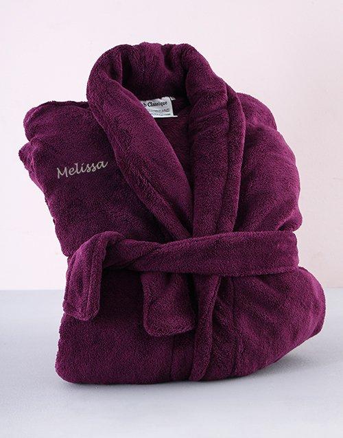 birthday Personalised Purple Gown