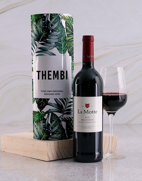 Leafy Personalised Wine Tube
