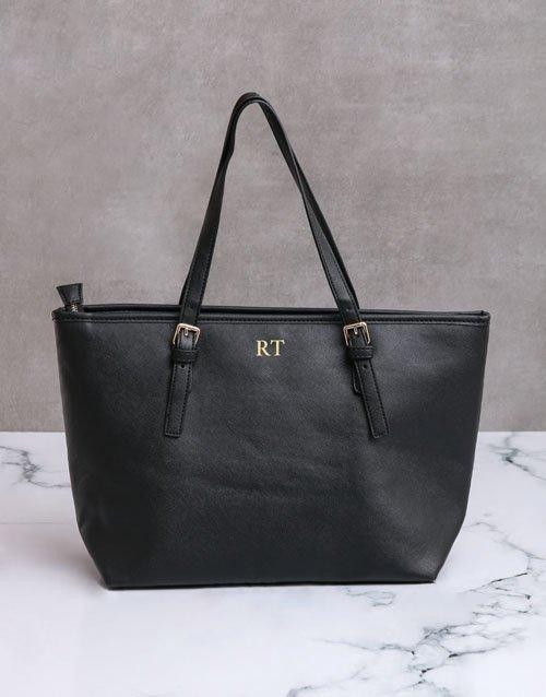 birthday Personalised Black Shopper Bag