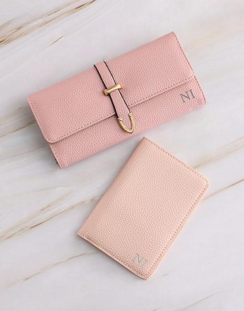 birthday Personalised Pink Purse with Passport Holder