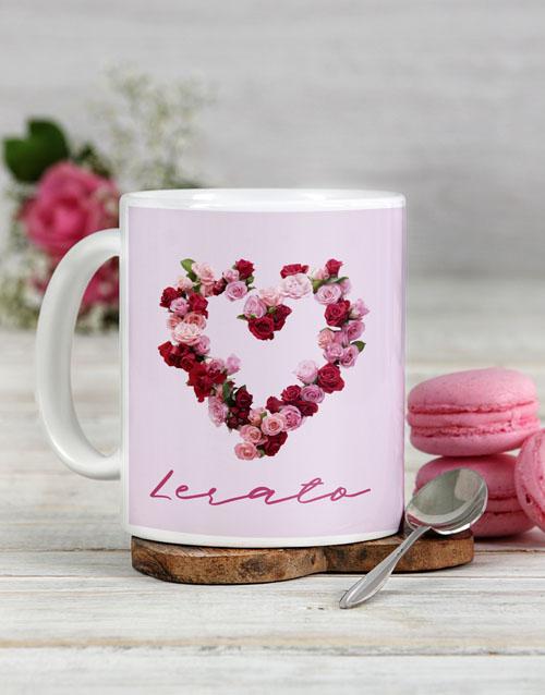 birthday Personalised Rosy Love Mug