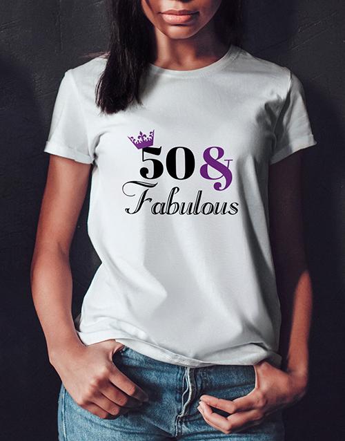 birthday Personalised Fabulous Birthday Ladies T Shirt