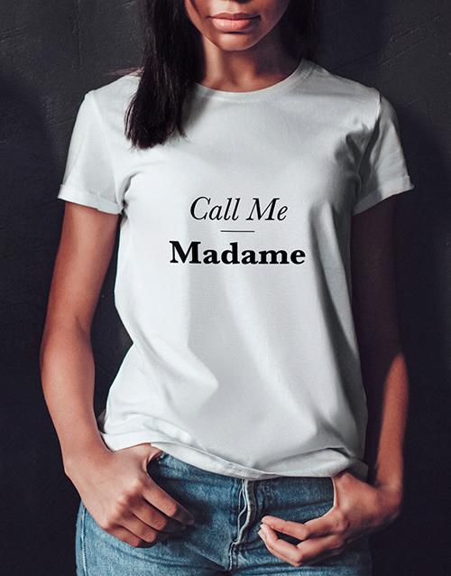 birthday Personalised Call Me Ladies T Shirt