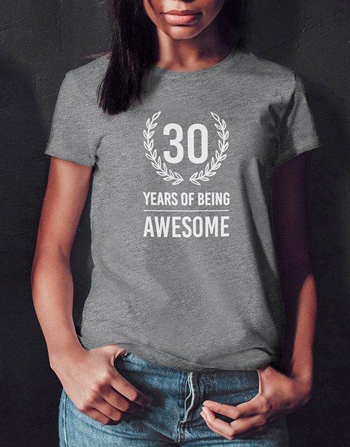 birthday Personalised Years of Being Ladies T Shirt