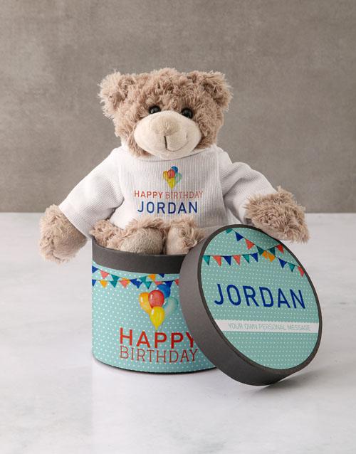birthday Personalised Happy Birthday Teddy Bear