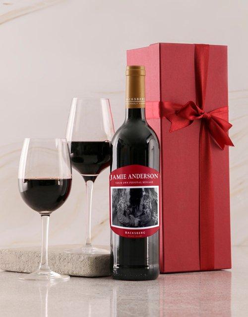 Red Label Backsberg Personalised Wine