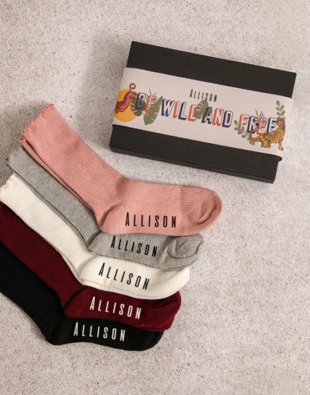 birthday Personalised Be Wild Frills Sock Pack