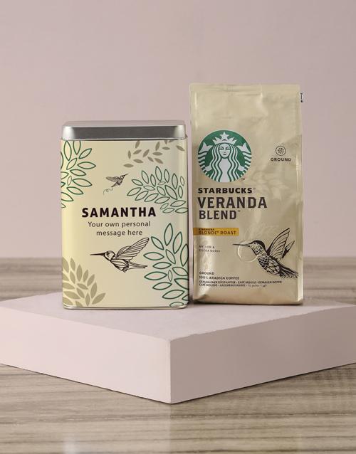 birthday Personalised Starbucks Bird Coffee Tin