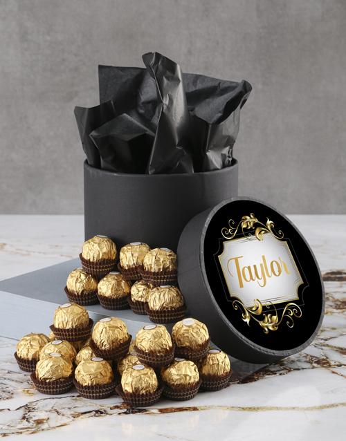 mothers-day Personalised Elegant Ferrero Rocher Hatbox