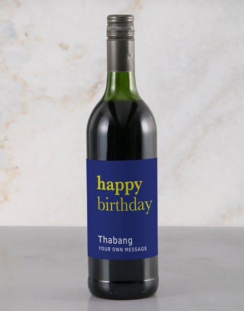 Blue Birthday Rietvallei Personalised Wine