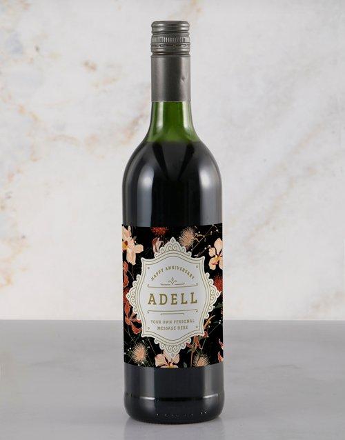 Elegant Anniversary Personalised Wine