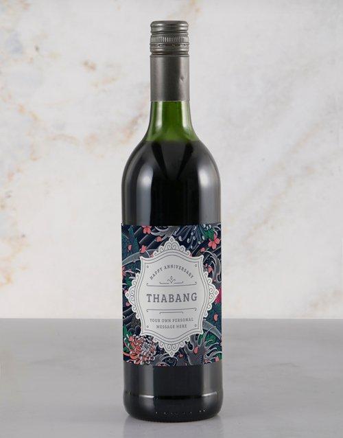 Refined Anniversary Personalised Wine