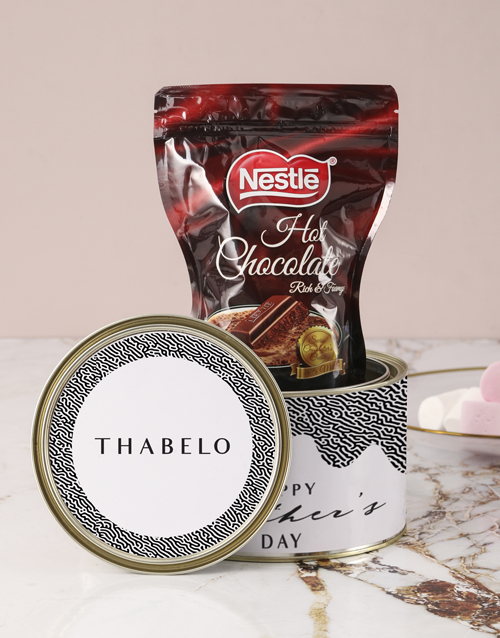 mothers-day Personalised Dreamy Hot Choc Tin