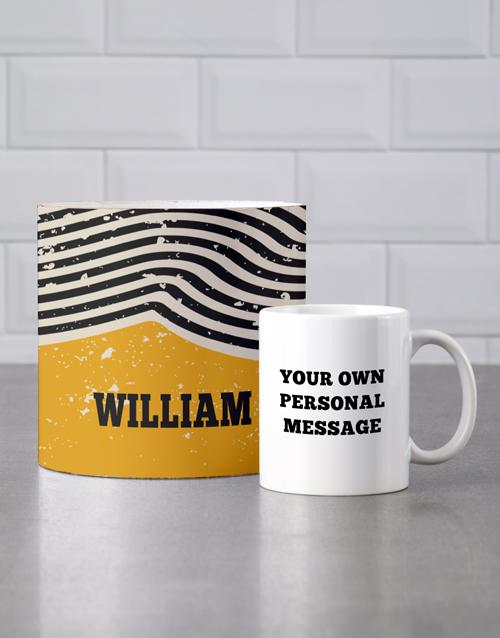 mothers-day Personalised Rustic Mug Tube