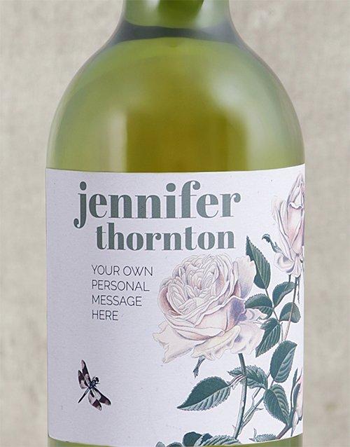 Rose Bush Personalised Wine Gift