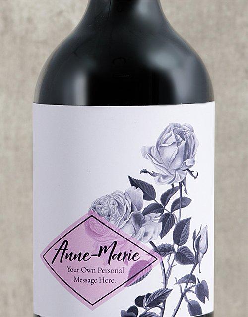 Purple Rose Personalised Wine
