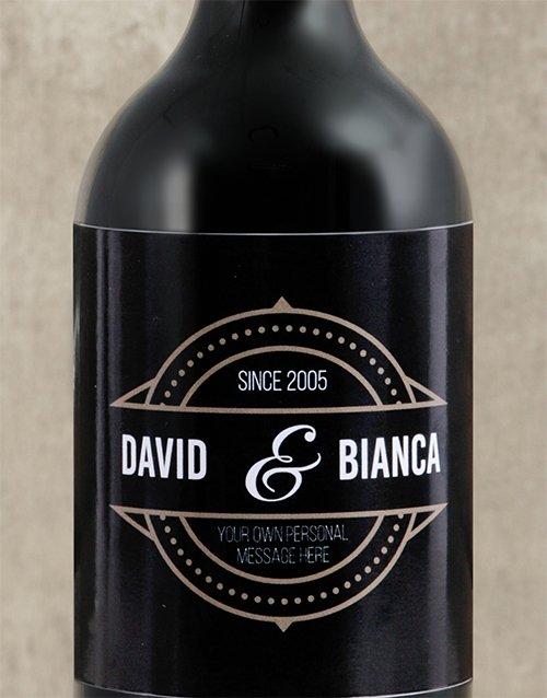 Vintage His and Hers Personalised Wine