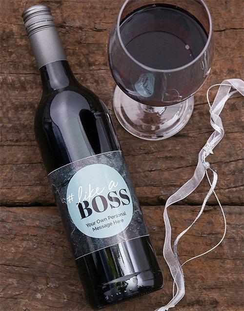 Like A Boss Personalised Wine