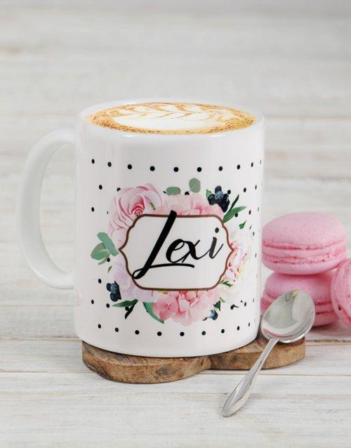 Personalised Floral Mug