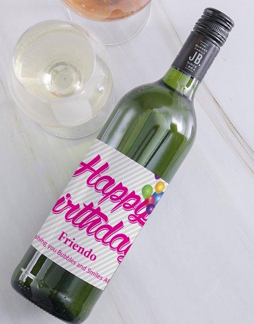 Happy Birthday Personalised Bubbly