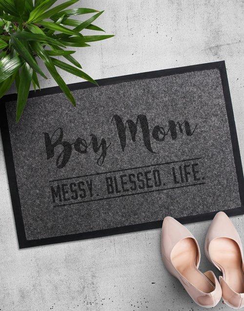 Personalised Boy Mom Doormat