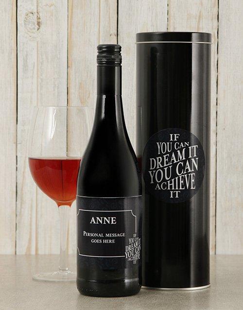 Dream It Personalised Wine Tin