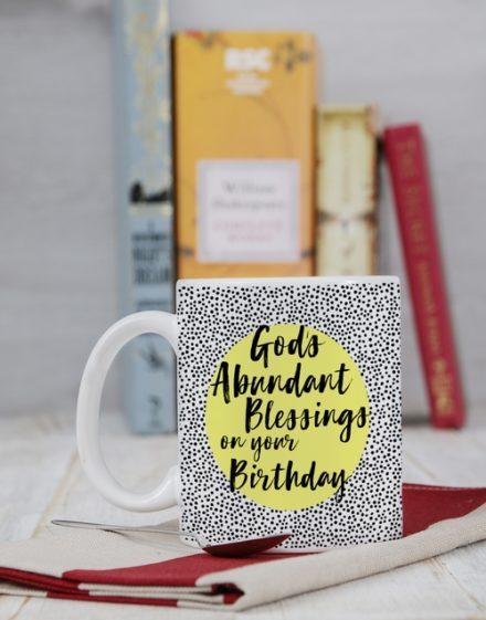 birthday Personalised Abundant Blessings Birthday Mug