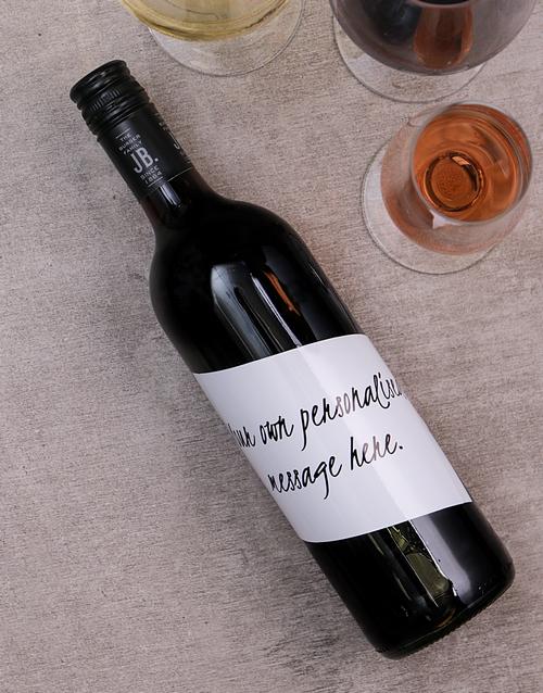 Handwritten Personalised Wine