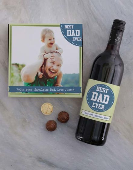 Personalised Best Dad Photo Choc Tray