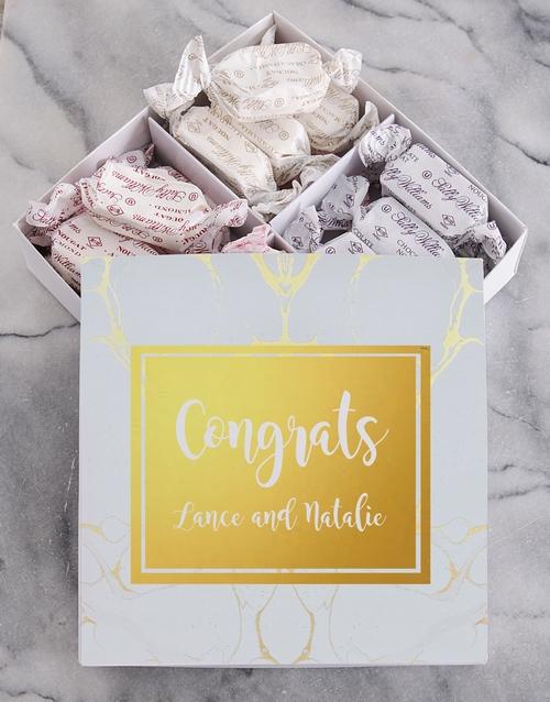 Personalised Congrats Sally Williams Nougat Box