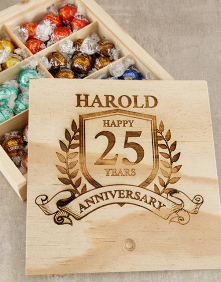 Personalised Anniversary Year Choc Box
