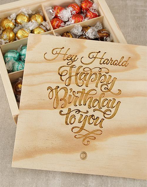 birthday Personalised Birthday Choc Treasure Box