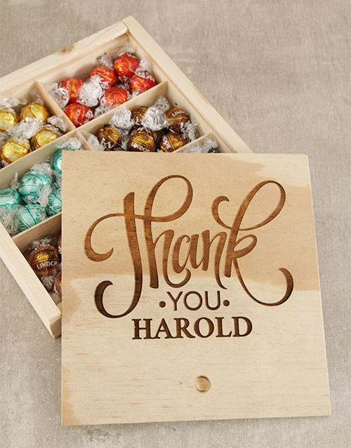 Personalised Thank You Choc Treasure Box