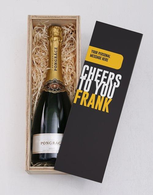 Cheers Printed Personalised Crate