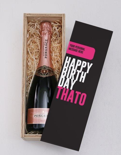 Pink Birthday Printed Personalised Crate