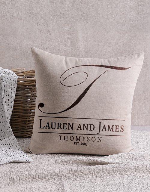 Surname Initial Cushion