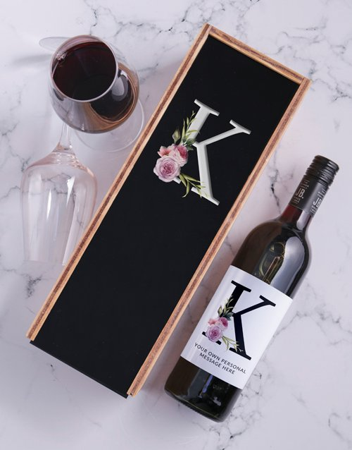 Roses Personalised Wine and Crate