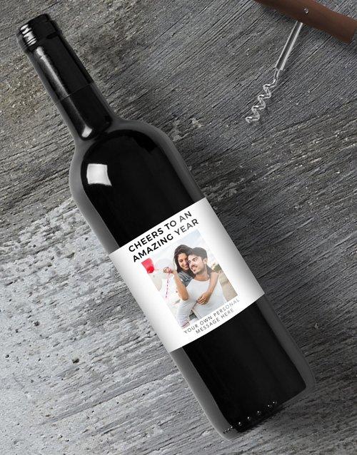 Amazing Year Photo Personalised Wine