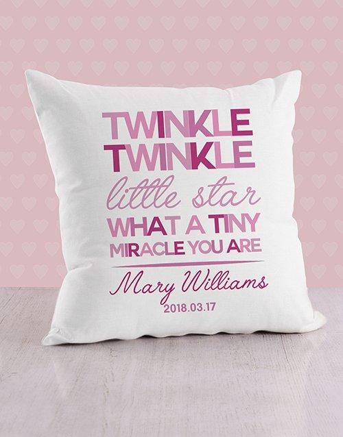 Twinkle Twinkle Baby Personalised Scatter Cushion
