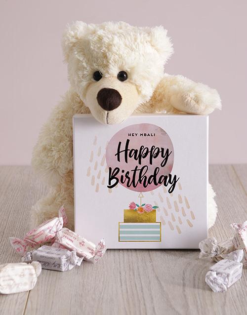 birthday Personalised Happy Birthday Box of Nougat