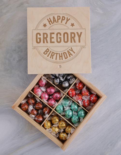 Personalised Happy Birthday Lindt Treasure Box