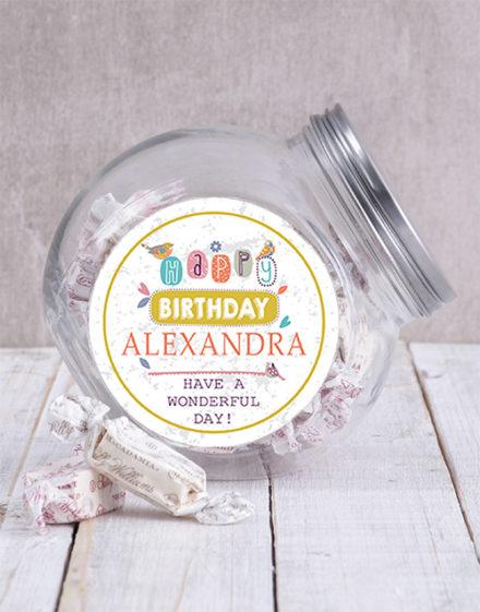 birthday Personalised Birthday Message Candy Jar