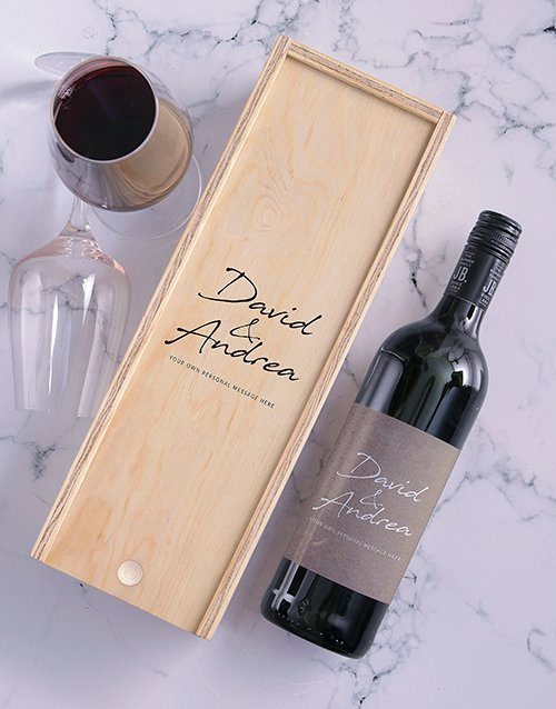 Personalised Wine Bottle and Crate