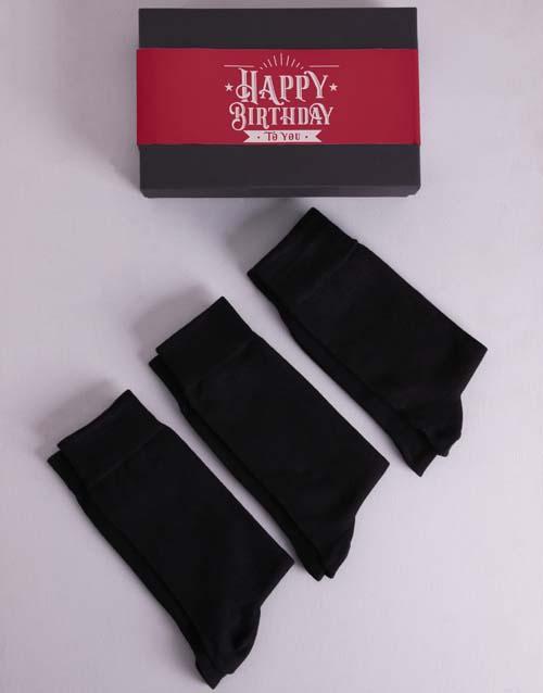 birthday Personalised 3 Birthday Socks Box