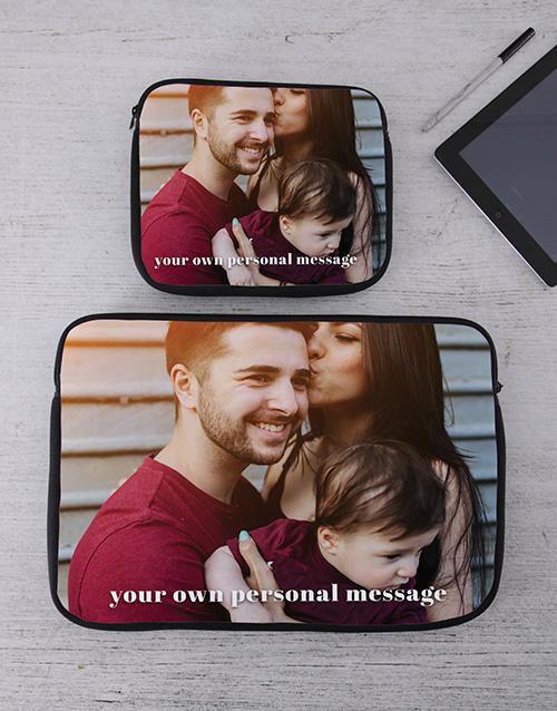 birthday Personalised Photo Tablet or Laptop Sleeve