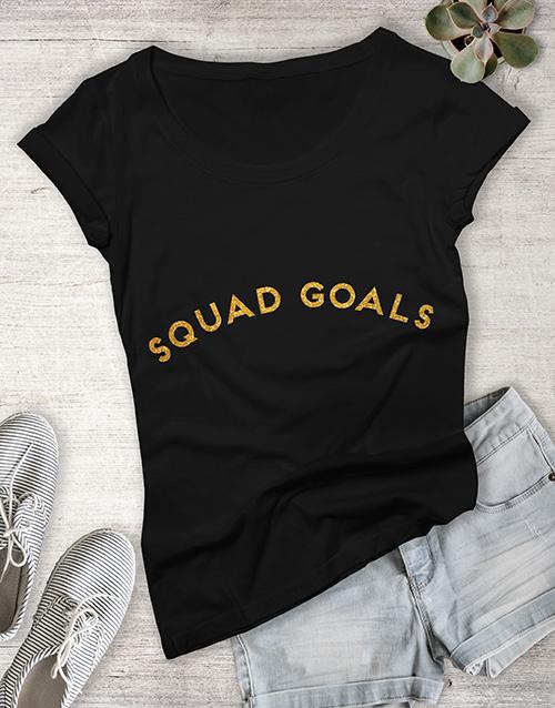 birthday Personalised Glitter Text Ladies T Shirt