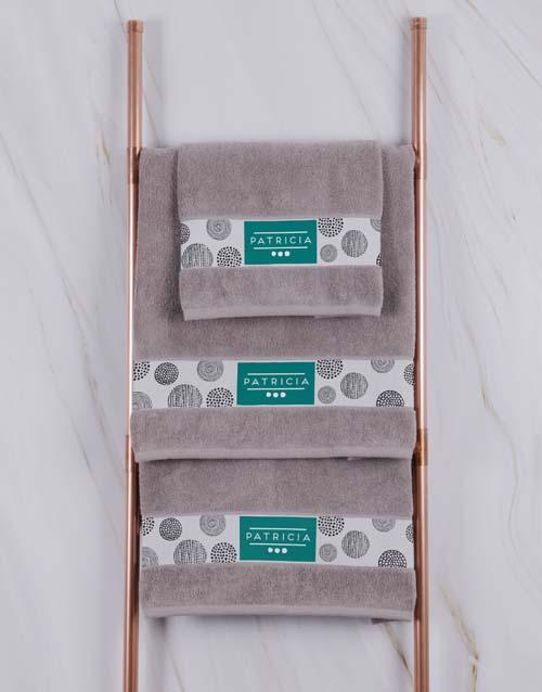 birthday Personalised Circles Stone Towel Set