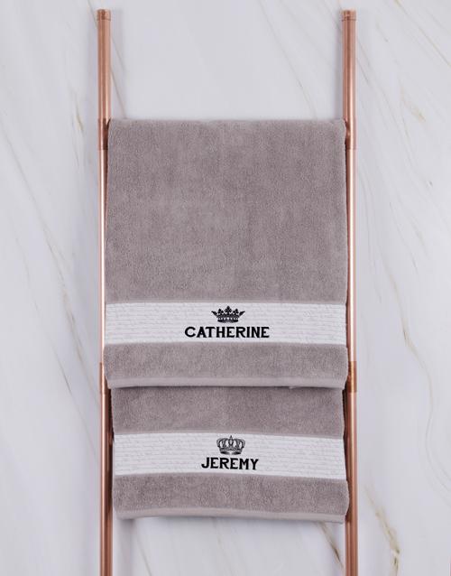 birthday Personalised Royal Stone Towel Set