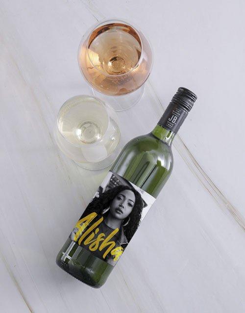 Vogue Photo Personalised Wine